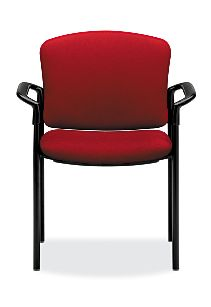 HON Pagoda Stacking Guest Chair Red Front View H4071.GR25.T