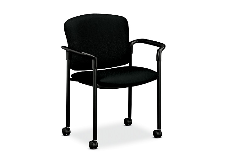 hon guest chairs. HON Pagoda Stacking Guest Chair Tectonic Black Hard Caster Front Side View H4075.H. Hon Chairs A