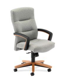 HON ParkAvenue High-Back Chair Esplanade Tourmaline Harvest Finish Front Side View H5001.C.PE78