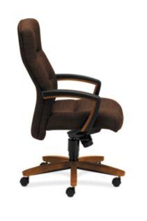 HON ParkAvenue High-Back Chair Brown Bourbon Cherry Finish Side View H5001.H.FO08