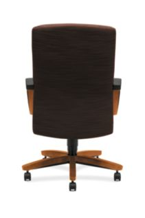 HON ParkAvenue High-Back Chair Brown Bourbon Cherry Finish Back View H5001.H.FO08