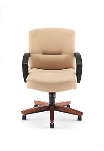 HON Park Avenue Mid-Back Chair Tan Front View H5002.J.CC.HO02