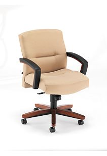 HON Park Avenue Mid-Back Chair Tan Front Side View H5002.J.CC.HO02