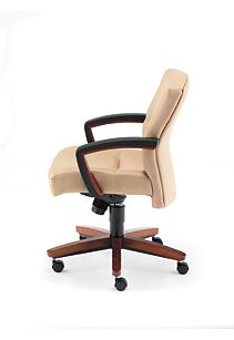 HON Park Avenue Mid-Back Chair Tan Side View H5002.J.CC.HO02