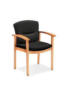 HON ParkAvenue Guest Chair Centurion Black Front Side View H5003.C.CU10