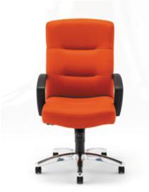 HON ParkAvenue High-Back Chair Centurion Tangerine Hard Caster Front View H5021.H.CU46