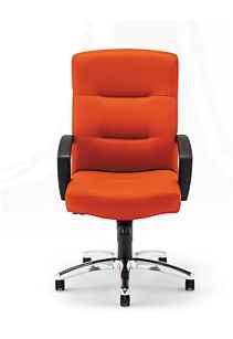 HON ParkAvenue High-Back Chair Centurion Tangerine Hard Caster Front View H5021.H.CU46