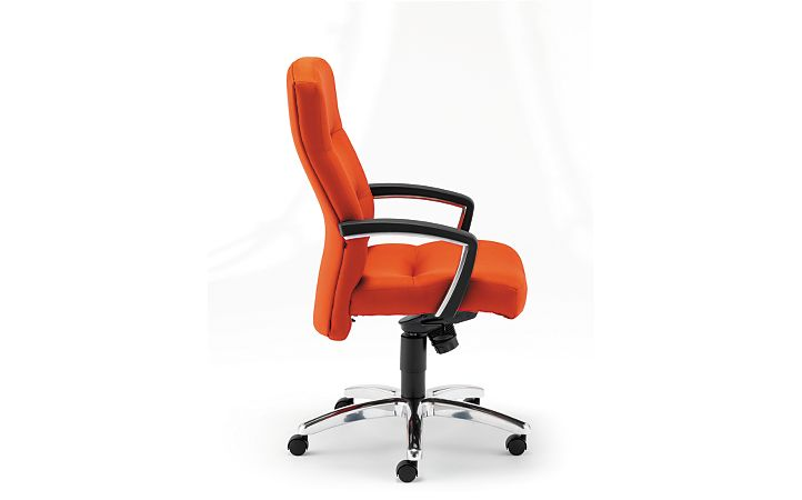 HON ParkAvenue High-Back Chair Centurion Tangerine Hard Caster Side View H5021.H.CU46