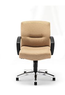 HON ParkAvenue Mid-Back Chair Esplande Khaki Hard Caster Front View H5022.H.PE.26