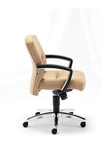 HON ParkAvenue Mid-Back Chair Esplande Khaki Hard Caster Side View H5022.H.PE.26
