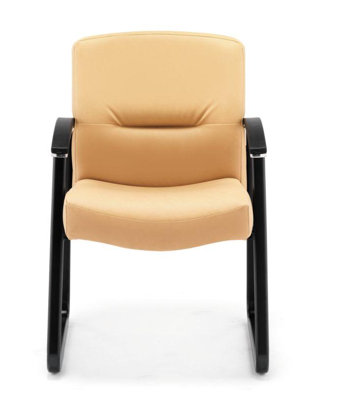 HON ParkAvenue Guest Chair Vinyl Camel Front View H5023.WP18.T