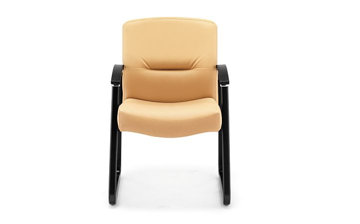 HON ParkAvenue Guest Chair Vinyl Camel Front View H5023.WP18.T