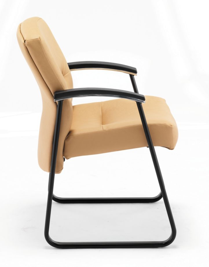 HON ParkAvenue Guest Chair Vinyl Camel Side View H5023.WP18.T