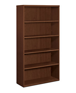 HON Park Avenue 5-Shelf Bookcase Shaker Cherry Front Side View HPC673X.V.FF