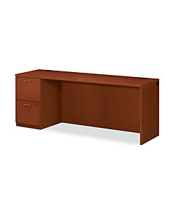 HON Park Avenue Laminate Series Left Pedestal Credenza Brown Color Front Side View HPC230L.V.J.JJ
