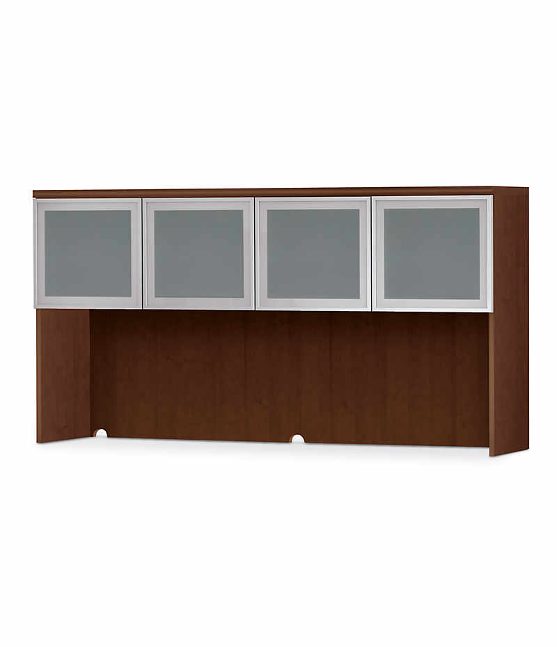 HON Park Avenue Laminate Series 4-Door Stack-On Hutch Shaker Cherry Color Front