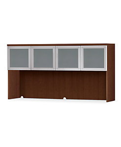 HON Park Avenue Laminate Series 4-Door Stack-On Hutch Shaker Cherry Color Front Side View HPC501G.V.FF