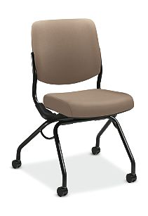 HON Perpetual Nesting Chair Centurion Morel Flex-Back Armless Front Side View HPN1.A.UU.CU24.T