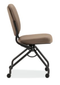 HON Perpetual Nesting Chair Centurion Morel Flex-Back Armless Side View HPN1.A.UU.CU24.T