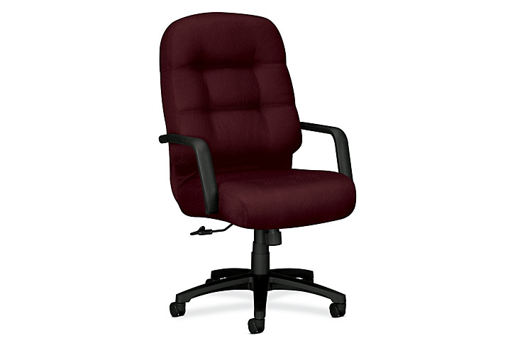 HON PillowSoft Executive High-Back Chair Tectonic Wine Front Side View H2091.H.NT69.T