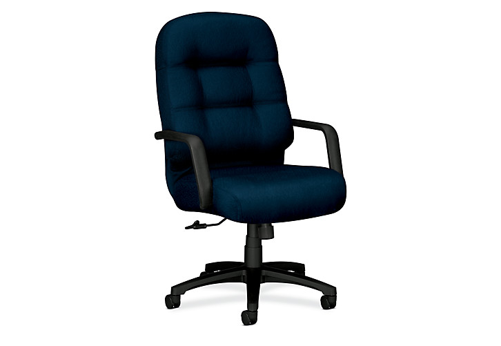 HON PillowSoft Executive High-Back Chair Tectonic Mariner Front Side View H2091.H.NT90.T