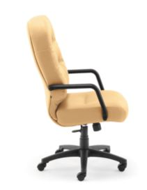 HON PillowSoft Executive High-Back Chair Whisper Vinyl Camel Side View H2091.H.WP18.T