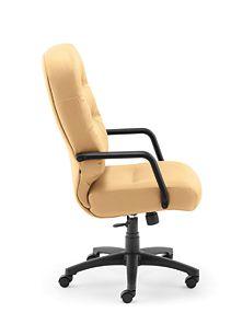 HON PillowSoft Executive High-Back Chair Whisper Vinyl Camel Side View H2091.H.WP18.T