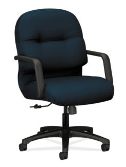 HON PillowSoft Managerial Mid-Back Chair Tectonic Mariner  Front Side View H2092.H.NT90.T