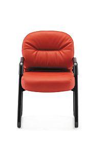 HON PillowSoft Guest Chair Whisper Vinyl Sangre Front View H2093.WP42.T