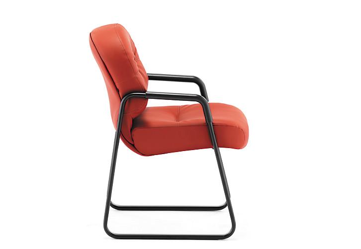 HON PillowSoft Guest Chair Whisper Vinyl Sangre Side View H2093.WP42.T
