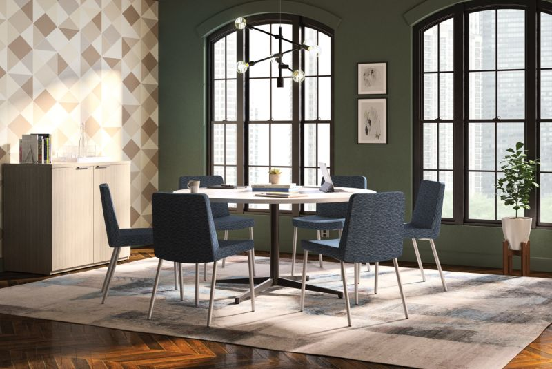 Preside Conference Table with Flock Chairs