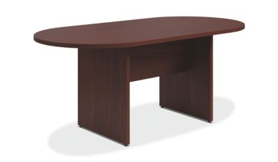 Preside Table With Panel Base HTLALPN HON Office Furniture - Hon racetrack conference table