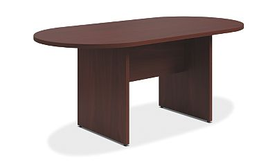 HON Preside Table with Panel Base Mahogany Color HTLA7236LPNNN