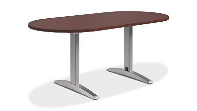 HON Preside Table with T-Legs Mahogany HTLA7236TLNNT1