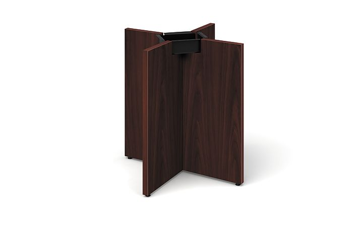 HON Preside Laminate Panel X-Base Mahogany HTLXP42.N