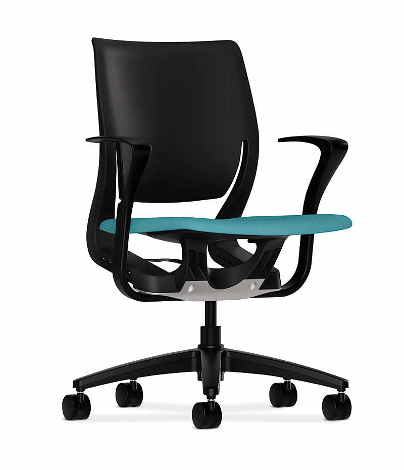 hon task chair with arms hon task chair w arms blue surplus office