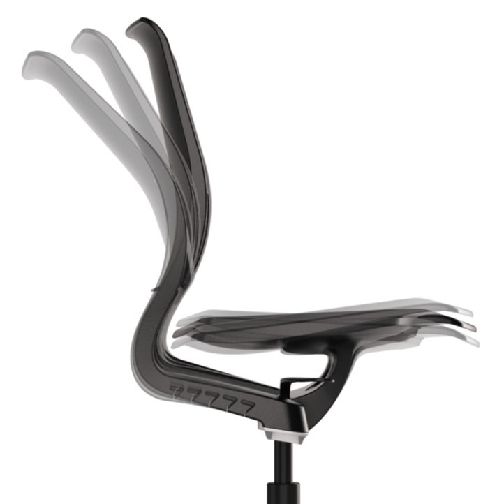 HON Purpose Task Chair Back Flexibility Side View HR1P.H.ON.T
