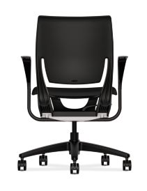 HON Purpose Upholstered Seat Task Chair Centurion Black Color Fixed Arms Back View HR1S.F.BLK.H.ON.CU10.T