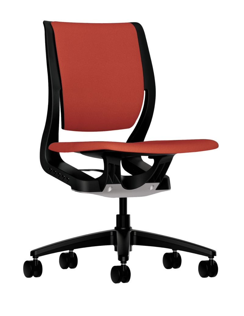 HON Purpose Upholstered Task Chair Centurion Poppy Color Front Side View HR1W.N.H.ON.CU42.T