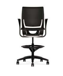 HON Purpose Upholstered Seat Task Stool Centurion Black Fixed Arms Back View HR5S.F.BLK.H.ON.CU10.T