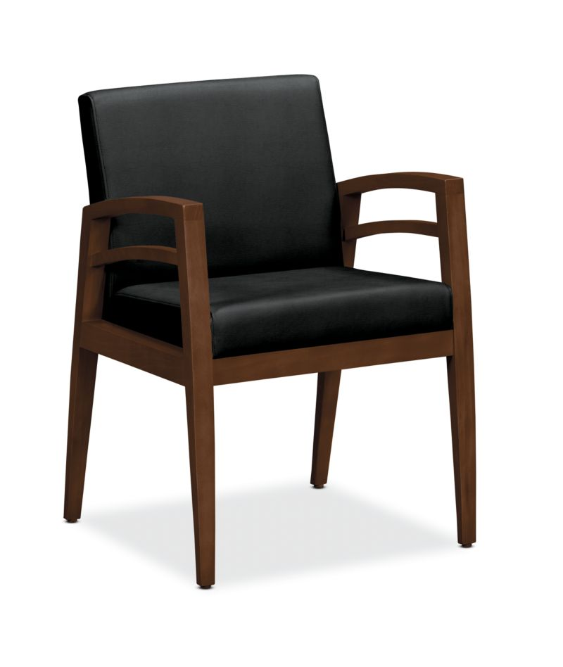 HON Riley Guest Chair Denver Leather Black HWGN1.Z.SS11