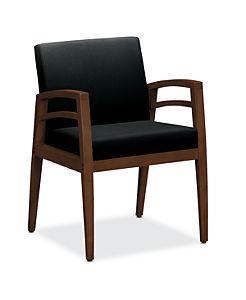 HON Riley Starter Gang Chair Centurion Black Front View HWGN2.Z.CU10