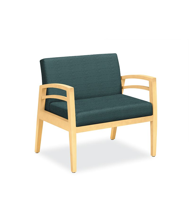 HON Riley Bariatric Single- Seat Chair Turquoise Front View HWGN5.D.AI96