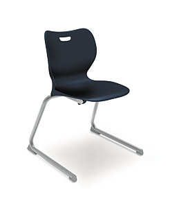 "HON Smartlink 18""H Cantilever Base Chair Dark Blue Front View HSSCL-18B.E.RE.PLAT"