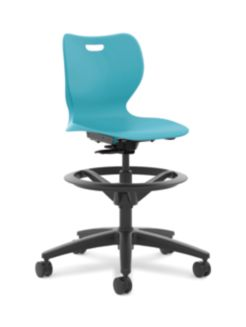 HON Smartlink Task Swivel Chair Light Blue Front View HSSST-18B.H.CP