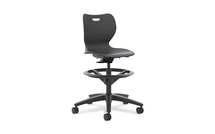 HON Smartlink Task Swivel Chair Onyx Front View HSSST-18B.H.ON