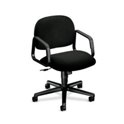 HON Solutions 4000 Series Mid-Back Task Chair Confetti Black Hard Caster Front Side View H4002.H.AB10.T