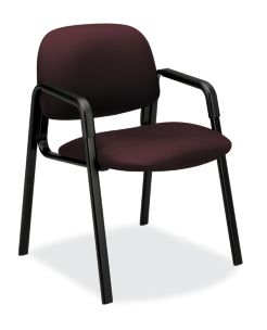 HON Solutions 4000 Series Guest Chair Tectonic Wine Front Side View H4003.NT69.T