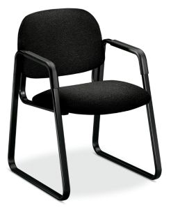 HON Solutions 4000 Series Mid-Back Task Chair Confetti Black Front Side View HH4008.AB10.T
