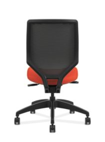 HON Solve Mid-Back Task Chair with Knit Mesh Back Orange Armless Back View HSLVMM.Y1.A.H.IM.COMP46.NL.SB